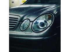 Замена штатных линз Mercedes E W211 на биксеноновые линзы Hella 3R Standart