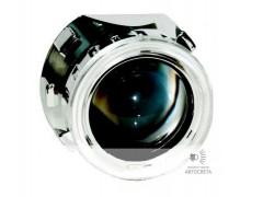 """Биксеноновая линза Morimoto Mini H1 2.5 с """"ангельскими глазками"""""""