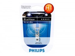 Галогеновая лампа Philips H1 BlueVision Ultra 4000K блистер