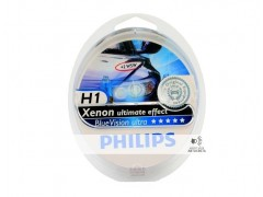 Галогеновая лампа Philips H1 BlueVision Ultra 4000K набор