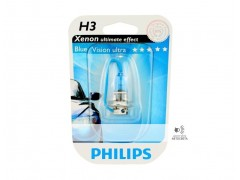 Галогеновая лампа Philips H3 BlueVision Ultra 4000K блистер