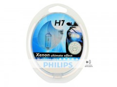 Галогеновая лампа Philips H7 BlueVision Ultra 4000К набор