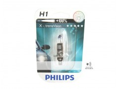 Галогеновая лампа Philips H1 X-treme Vision +100% блистер