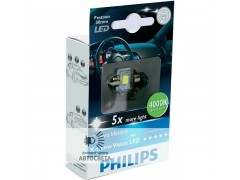 Светодиоды Philips LED C5W X-TremeVision 30 мм (+400%)
