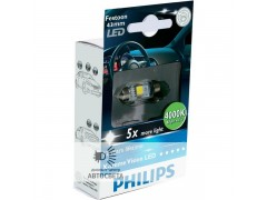 Светодиоды Philips LED C5W X-TremeVision 43 мм (+400%)