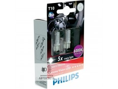 Светодиоды Philips LED T10 6000K X-TremeVision