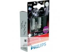Светодиоды Philips LED T10 6000K X-TremeVision