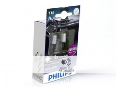 Светодиоды Philips LED T10 (W5W) Vision (+200%) 6000 К