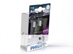 Светодиоды Philips LED T10 (W5W) Vision (+200%) 6000 К