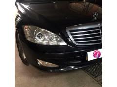 Устранение запотевания фары Mercedes E211 + полировка