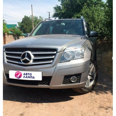 Установка биксеноновых линз GALAXY G5 на Mercedes GLK