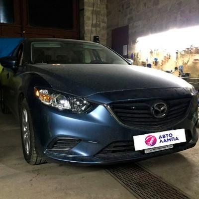 Замена штатных линз Mazda 6 GJ на биксеноновые линзы Galaxy