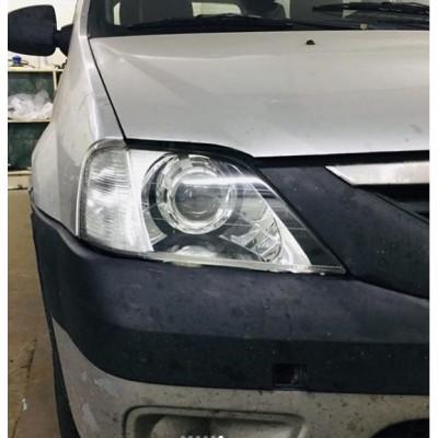 Установка биксеноновых линз Galaxy Q5 на Renault Logan